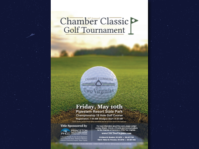 30th Annual Chamber Classic Golf Tournament print design photoshop branding and identity illustration design logo poster flyer design branding graphic  design
