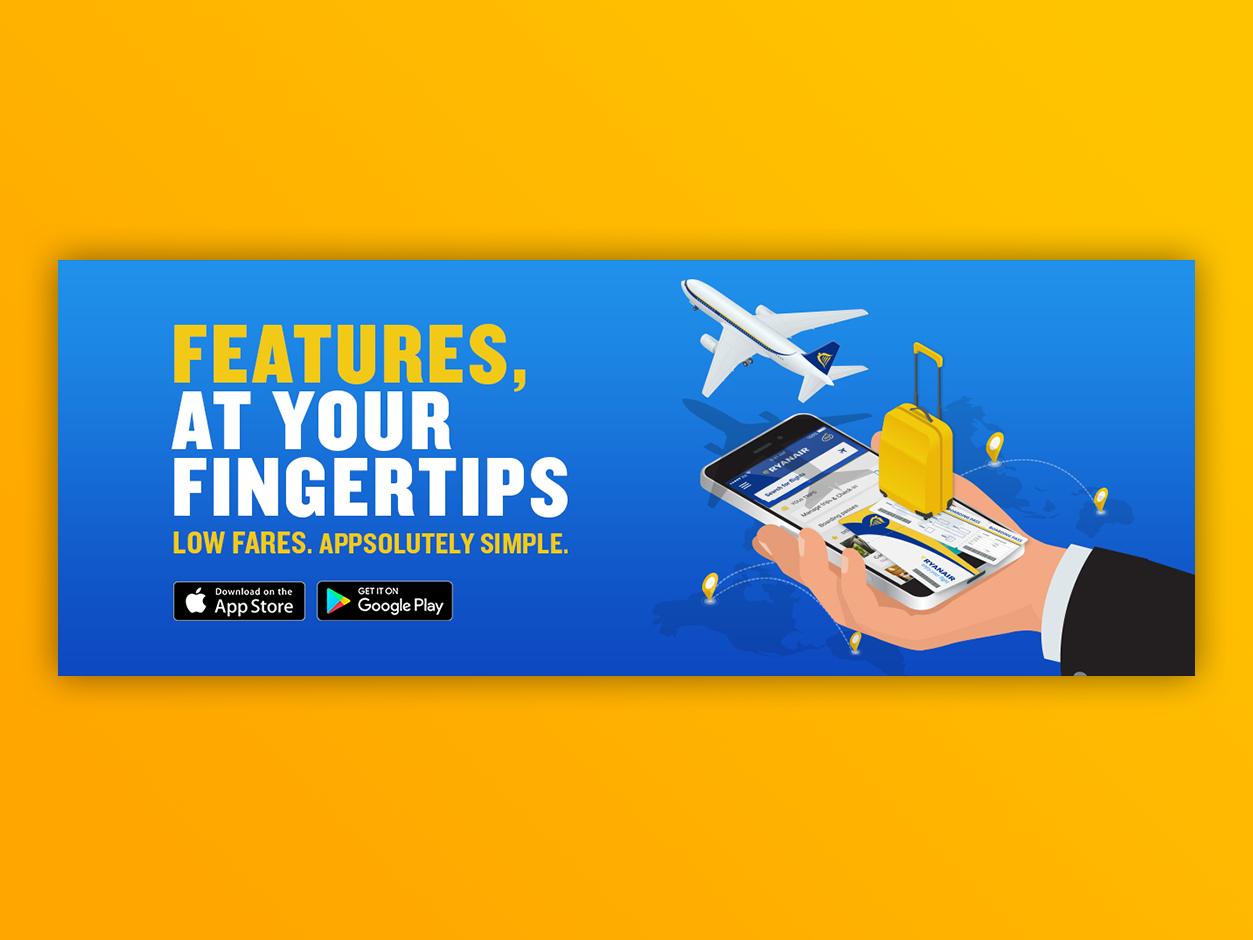 Ryanair App Campaign ryanair airline digital app illustration vector campaign advertising