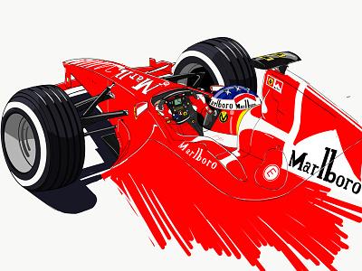 #KeepFighting f1 michael schumacher scuderia ferrari ferrari wacom adobe drawing digital painting drawing ipad maxence ahurig