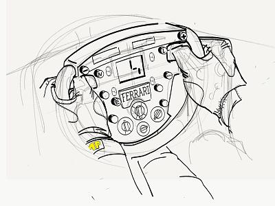 #keepfighting Steer detail f1 michael schumacher scuderia ferrari ferrari wacom adobe drawing digital painting drawing ipad maxence ahurig