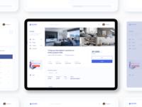 ROOMR Rent Dashboard room home rental dashboad app web design design web ux ui