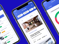ROOMR Rent app app mobile design home rent booking mobile ios clean ux ui