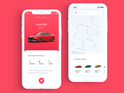 Car Rental app car car rental clean concept ios minimal mobile rent ui