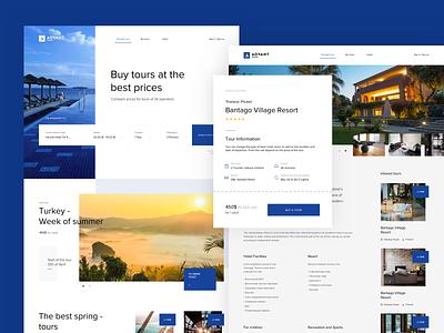Advant travel travel website landing web design design ux clean web ui
