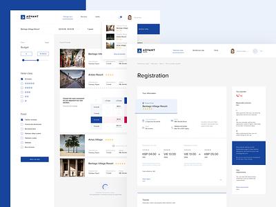 Advant travel travel web-design web design design website clean ux web ui
