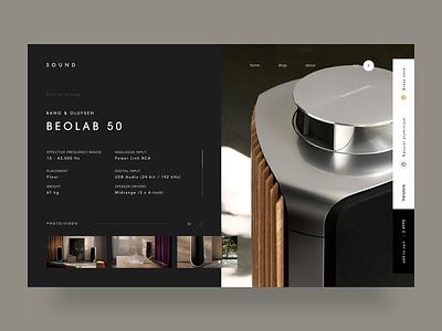 S O U N D Shop e-commerce shop black web-design web design website design clean web ux ui