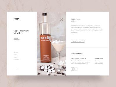 Effen Luxury Vodka white spotify black shop landing web-design web design website design ux clean web ui