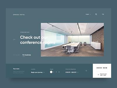 Omega hotel booking hotel landing web-design web design website design ux clean web ui