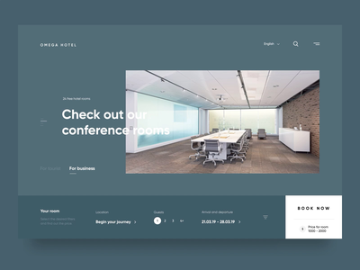 Omega hotel booking hotel landing web-design web design website design ux clean web ui