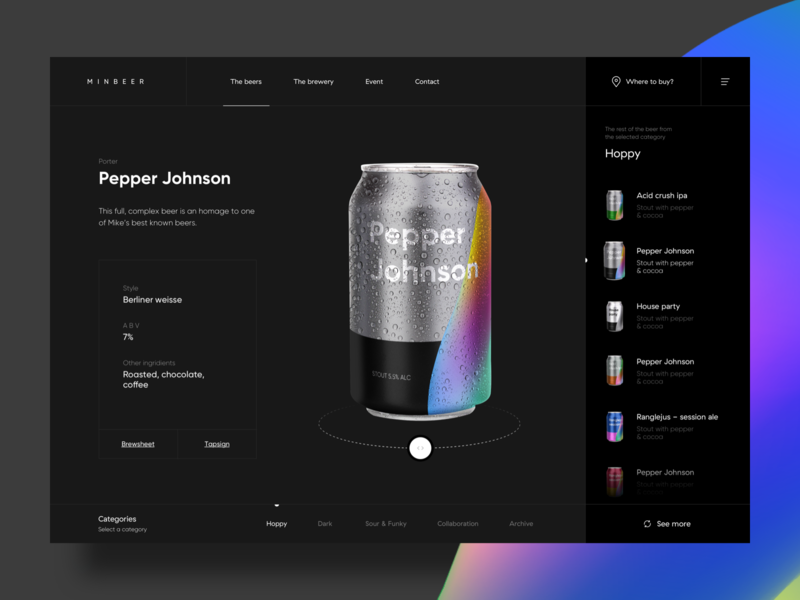 Minbeer beer shop landing web-design web design website design ux clean web ui