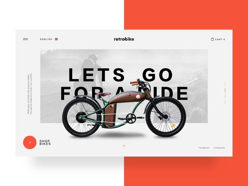 Retrobike branding product design product orange clean website shop e-commerce landing logo bike webdesign web ux ui ui  ux