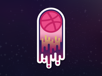 Dribbble Playoff :: The Sky is the Limit sticker dribbble playoff illustration