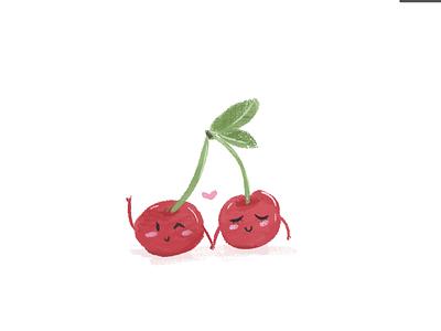 Cherrific! cherries love children character characterdesign vector doodles illustration foodillustration