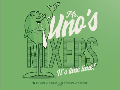 Mr. Unos Premium Mixers logo illustration typography vector logo design graphic design branding and identity