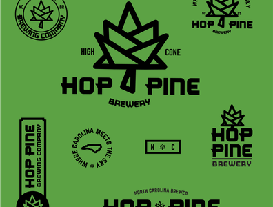 Hop Pine Brewery Identity System