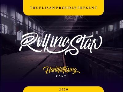 Rolling Star Handlettering Font