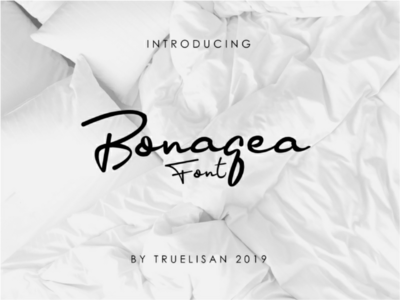 Bonagea Handwriting Font