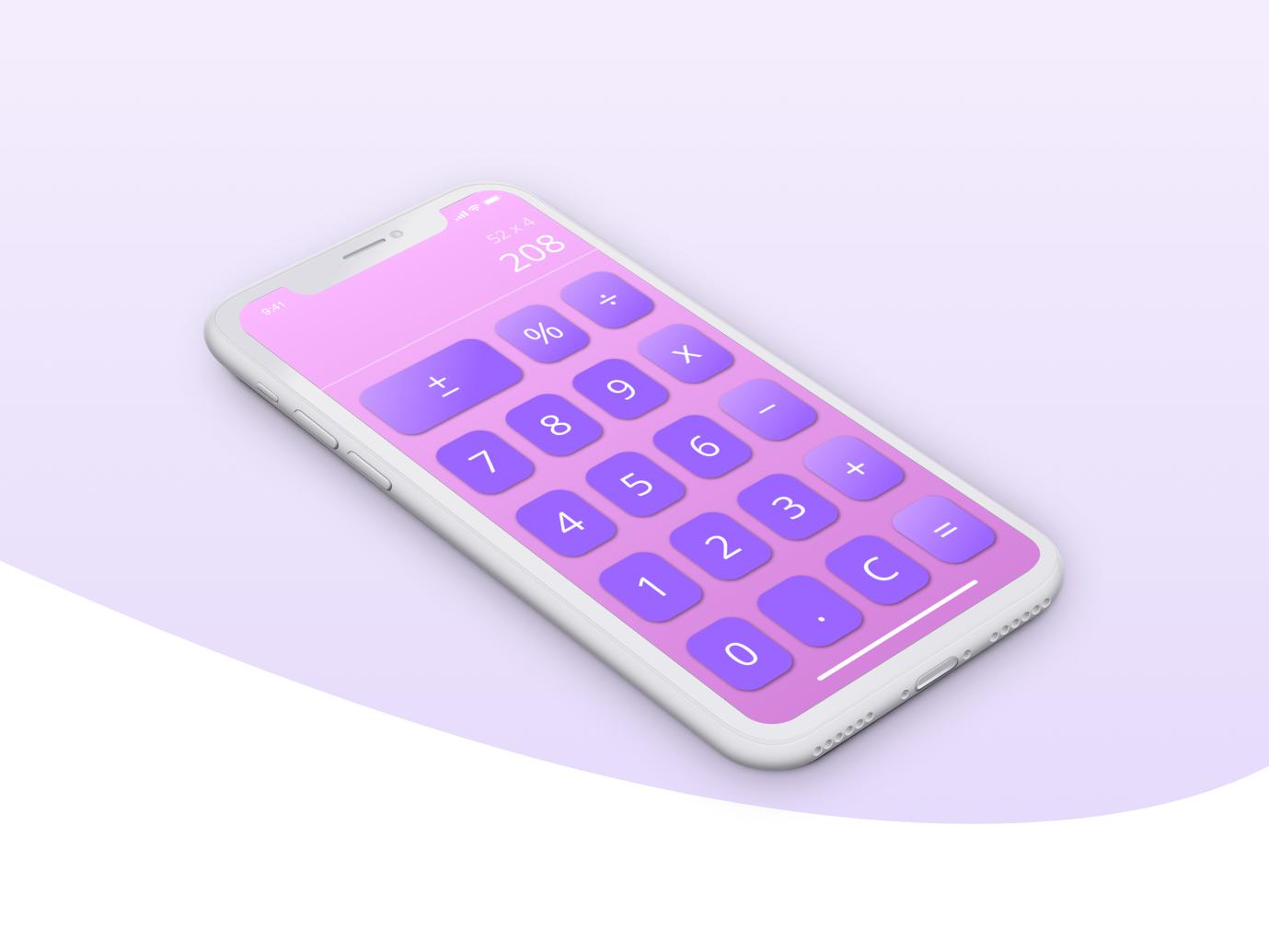 Calculator Mockup ios mobile calculator design app ux ui