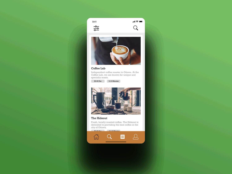 Coffee Delivery app mobile design ios ux ui