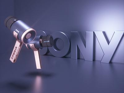 Sony Xperia Concept Earphone motiongraphics 3d design motion design art direction 3d designer design octane render adobe photoshop cinema 4d 3d artist product design
