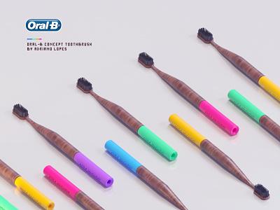 Oral -B Toothbrush Concept art director cinema 4d adobe photoshop art direction motion design product design cinema4d 3d designer octane render 3d artist