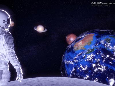 Space Moon VR Project adobe photoshop octane render cinema4d vray 3dmax art director design