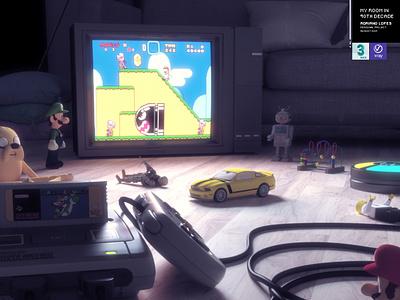 Nintendo London Project VR art direction nintendo 3dmax vray