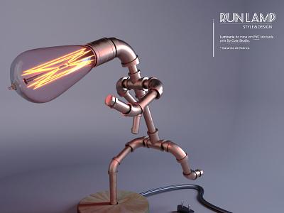 Running Lamp - So Cute Studio art direction logo adobe photoshop art director design octane render cinema 4d product design