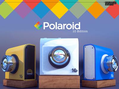 Polaroid Cam 10 Edition cinema 4d 3d designer 3d design concept art product design