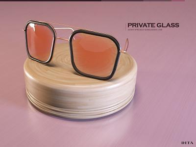 DITA Eyeswear Prototype octane render cinema 4d 3d artist advertise prototype 3dmodel