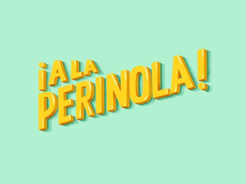 A la perinola procreate illustration typography leter design design lettering