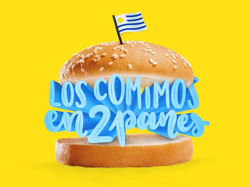 Letter burger uruguay design digital illustration illustration lettering