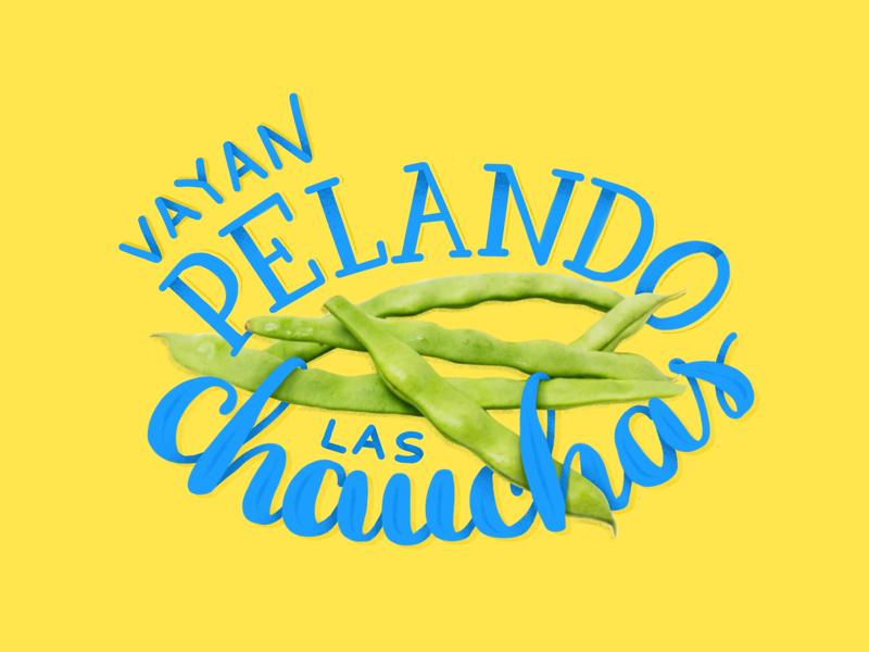 Peeling the beans football expression uruguay graphic design type design letter design lettering