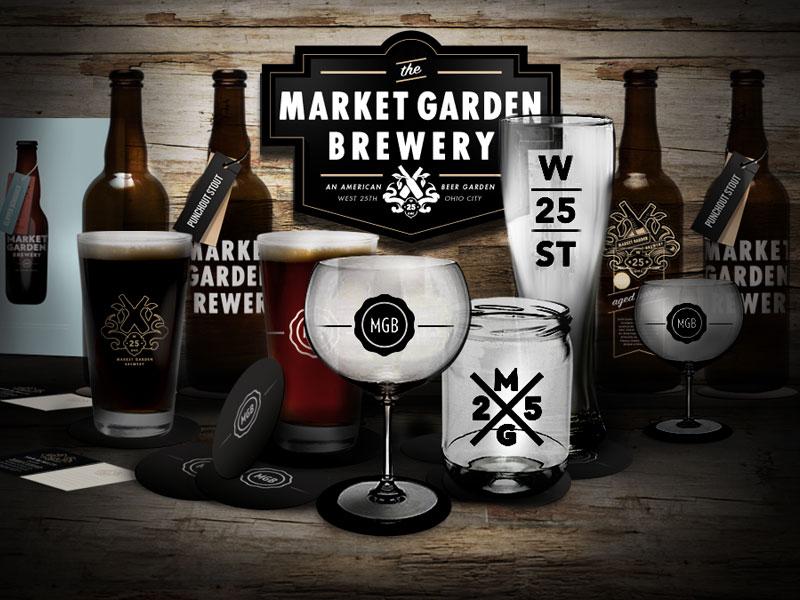 Market Garden Brewery logo design branding