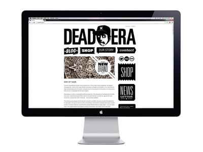Dead Era Website Design