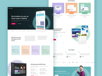 Monochrome ServiceNow Microsite Homepage