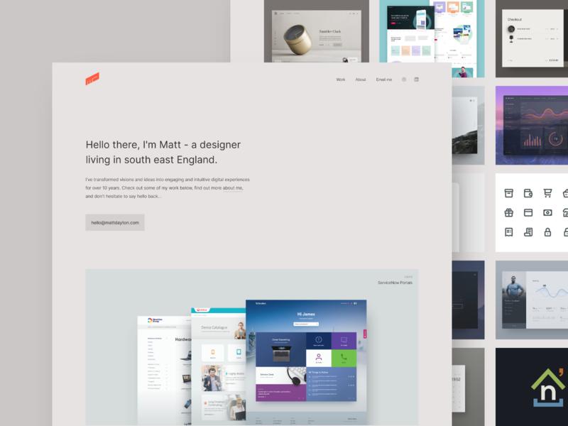 Personal website ui minimal design personal portfolio website