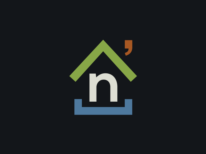 Nathans Place branding development code house nathan developer coder logo