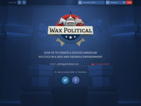 Wax Political Landing Page