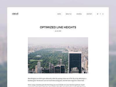Minimal Blog Article