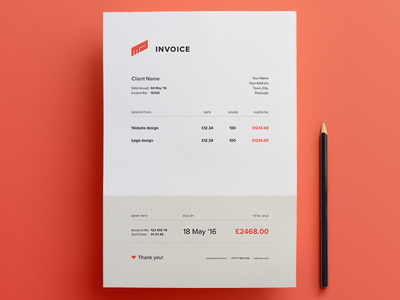 Invoice - Free Template minimal clean document download template ai invoice freebie free