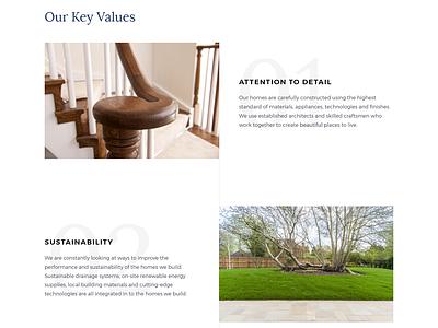 Brookworth Homes Website ui house development property home web design website web