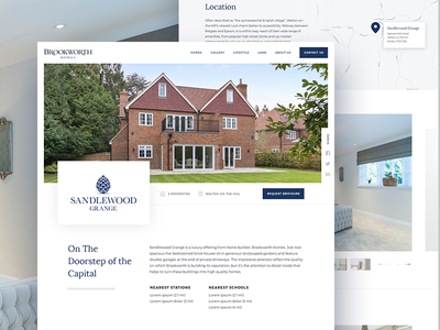 Brookworth Homes Website ui house development property home web design website web