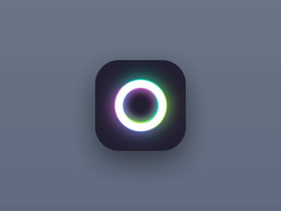 Animated app icon simple animated minimalist minimal dailyui 005 dailyui ui animation shiny ring app icon icon app