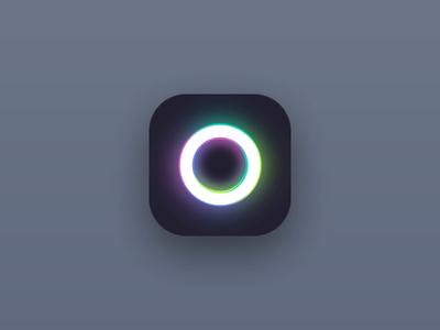 Animated app icon simple animated minimalist minimal dailyui 005 dailyui ui animation shiny ring app icon icon app