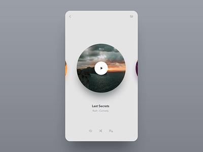 Music Player dailyui 009 dailyui ui minimalist minimal simple animation animated turntable vinyl app mobile player music