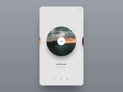 Music Player dailyui 009 dailyui ui minimalist minimal simple animation animated turntable vinyl app mobile player music