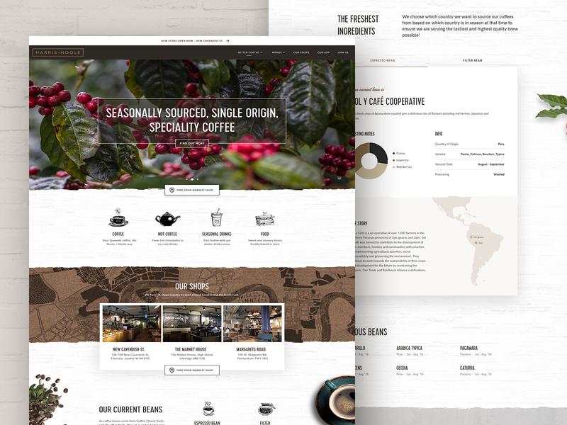 Harris & Hoole Website website hoole harris coffee
