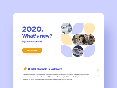 2020. Digital banking trends bank website uxui webdesign
