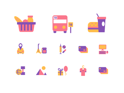 Expenses Icon Set pt.2 pixelperfect vector expences iconset icons mobileapp